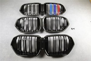 3 Colors Carbon Pattern Glossy Black  M Color Car Front Hood Grilles For BMW X6 G06 ABS Material