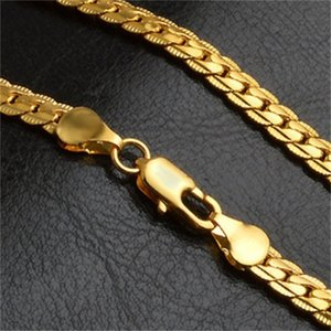 5mm fashion Luxury mens womens Jewelry 18k gold plated chain necklace Hip Hop Miami chains Necklaces gifts Wholesales accessories 710 Q2