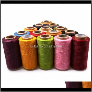 Yarn Clothing Fabric Apparel Drop Delivery 2021 1Pcs 150D 0Dot8Mm 160M Cord Waxed Wax Diy String Stitching Thread Bracelet Jewelry Linen Spoo