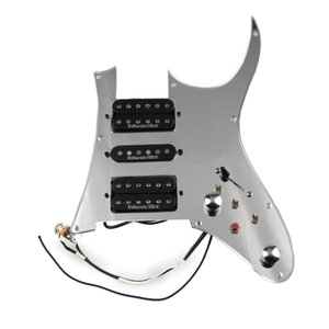 Prewired Pickguard IBZ Guitar Pickups Alnico 5 HSH 4C Wiring Harness Push-pull single cut Set For IBAZ R