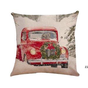 Christmas Pillow Case Xmas Cushion Cover Car Sofa Spandex Pillows Cases Bedding Supplies Home Christmas-Decorations HWE9573