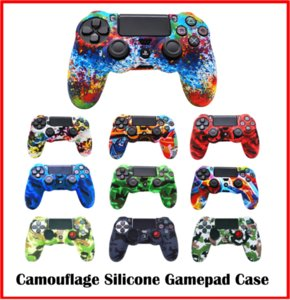 Camouflage Controller Soft Silicone Case Flexible Gel Rubber Skin Cases Cover For Sony Playstation 4 Game Controllers Accessory