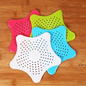 Bathroom Sink Filter Colanders Filter Drain Stopper Anti-clogged Hair Floor Supplies Hair Star Sewer Outfall Strainer 120pcs EWE6154
