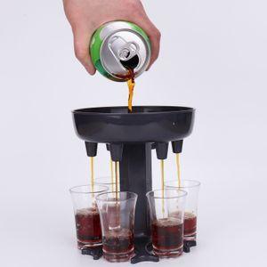 6 Shot Dispenser Dispenser Titular Ferramenta de Ferramenta Transportadora Caddy Liquor Festa Beber Jogos Cocktail Vinho Cerveja Rápida Enchimento