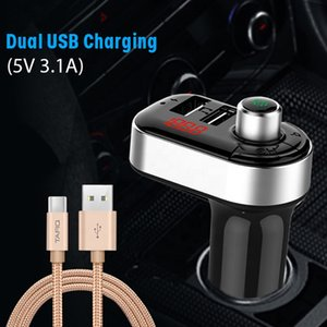 Car MP3 player with Calling FM Transmitter C7 Dual USB Charger 3.1A