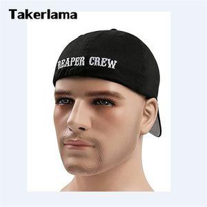 Takerlama SOA Söhne der Anarchie für Reaper Crew eingebaut Baseballmütze Bestickte Hut schwarz