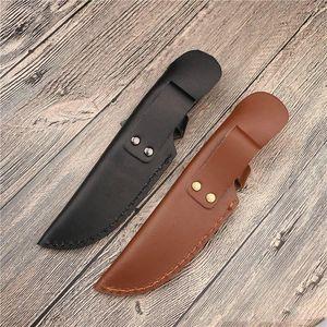 أداة حقيبة مستقيم شفرة غمد مع الافتتاح أعلاه لحزام سكين حامل الجلود غطاء مخيم أدوات الحافظة NHE6212