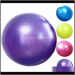 Поставки на открытом воздухе Drop Доставка 2021 Толстые взрывозащищенные йоги мяч Фитнес спортивные товары спортивные мячи мышцы тренировочные целы тренировки