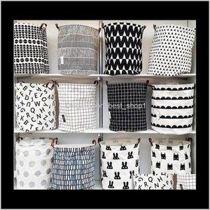 Boxes Storage Ins Baskets Bins Kids Room Toys Bags Bucket Clothing Bag Canvas Organizer Polka Dot Laundry Qwzp1 Jglt0