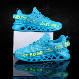 New Couple Summer Outdoor Casual Breathable Lightweight Flying Woven Large Size Blade Sneakers