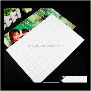 Other Office School Supplies A4 Blank Jigsaw Puzzle 120 Pieces Heat Press Thermal Transfer Crafts Diy White Puzzles For Sublimation Po 50Fal