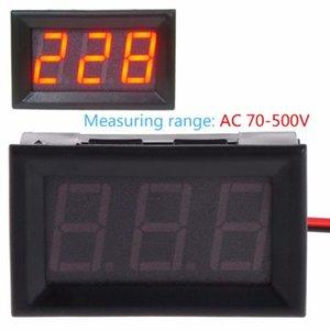 Voltage Meters AC 70-500V Digital Voltmeter 0.56 Inch Red LED 2 Wire Volt Test Meter Tester Tools