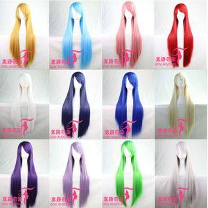 Human Capless WigShoLaseNeen Frauen Cosplay Harajuku Cos Animation Perücke 80cm Lange Straight Hair Batch