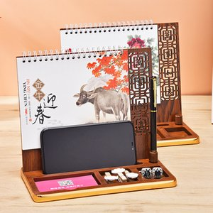 Calendar notes desk wooden creative small fresh desktop ornaments desk business year of the ox