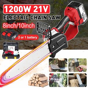 Drillpro 63000mhh 1200W 118V 8 10inch Electric Saw Chainsaw Wood Cutters Portable WoodWorking One-Hand Saw Brushless Motor 210430