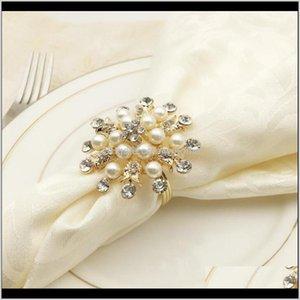 Decoration Aessories Kitchen, Dining Bar Home & Gardenchristmas Snowflake Rings Holder For Wedding Napkin Buckles Serviette Party Restaurant