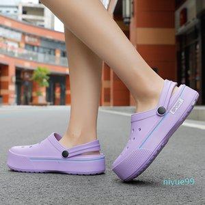 Summer Women sandals Platform Clogs Outdoor Garden Shoes Female Pool Sandals Bathroom Mules Beach sandals Unisex 0928
