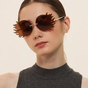 Sunglasses LEIXI 9Colors Trendy For Women And Men PC Lenses Copper Leg Round Sun Glasses 2021 UV400 Glass LX073