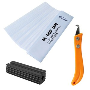 1 Set Golf Club Regripping Kit 15 pcs Double Coated Re-Grip Tape+ 1pcs Hook Blade + 1-pcs Rubber Vise Clamp Remover Tool