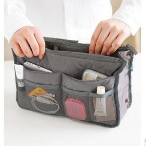 Double Zipper Wash Bag Cosmetics Multifunctional Storage Travel Middle UK TQK8804