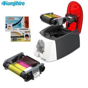 Printers Color Desktop Card Evolis Badgy100 200 Single-sided Plastic PVC ID Printer With One YMCKO Ribbon