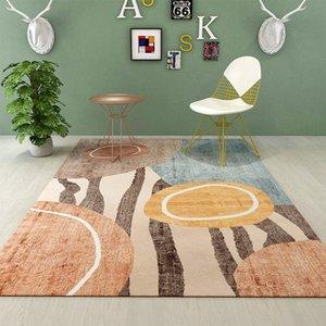 Carpets 2021 Stylish Modern Pink Grey Marble Mosaic Living Room Bedroom Decorative Bed Kitchen Carpet Floor Mat Custom