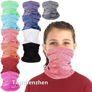 Kids Bandanas Face Outdoor Neck Headband Magic Cycling Washable Scarf Masks Dust Protection Block Balaclavas With Filter L1JB