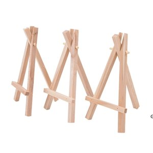 7x12.5cm mini wooden tripod easel Small Display Stand Artist Painting Business Card Displaying Photos Painting Supplies Wood Crafts HWF6666