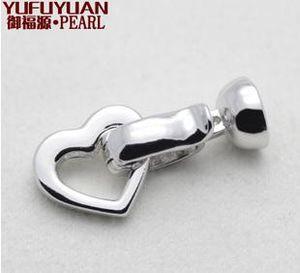 Бесплатная доставка Оптовая жемчужные аксессуары Yu fu yuan 925 серебро любовь жемчужное ожерелье браслет застежка YPJ26