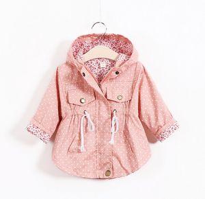 شحن مجاني الخريف سترات للبنات جديد 2020 النسخة الكورية ماركة أزياء البولكا نقطة الخفافيش قميص معطف 5pcs / lot الأطفال هوديس