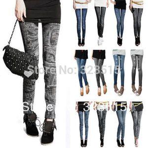 FG1511 2014 Nova Chegada Nova Moda Denim Jeans mulheres menina Sexy Leggings Jeggings Skinny Pants