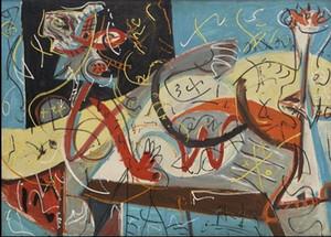 Jackson Pollock Stenographic Figure Canvas Dipinto a manoHD Stampa Dipinti Wall Art su tela Dimensioni parete Home Decor BerkPr095