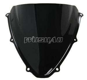 Parabrezza bicolore moto doppio parabrezza windscreen per 2006-2007 Suzuki GSXR600 GSXR750 GSXR 600 750 K6 06 07 nero
