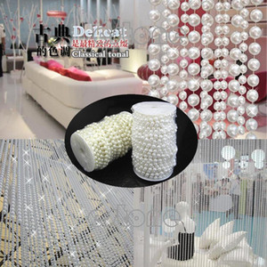 Gros-L1098MM Faux Perle Plastique Perles Perles Sur Un Craft Rouleau De Deux Couleurs