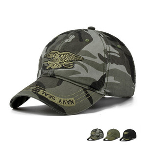 Hohe Qualität Camo Baseball Cap Männer Camouflage Navy Seal Tactical Cap Herren Hüte und Caps Bone Army Snapback für Erwachsene