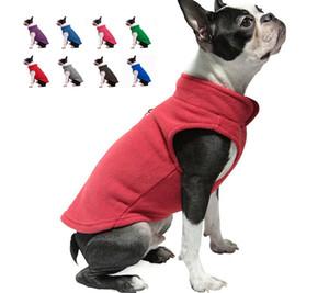 Envío gratis Warm Fleece Plain Dog Cloth Wholesale Pet Supply perro ropa invierno perro chaleco chaqueta