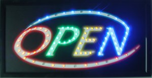 Wholesale business hot sale animation led open neon sign eye-catching slogans indoor of led open shop store free shipping
