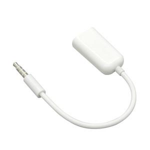 Оптовая 500 шт. / лот 2 в 1 3.5 мм мужчин и женщин двойной разъем наушников аудио Сплит адаптер кабель белый цвет