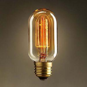Специальное освещение накаливания Прямой Фейерверк Арт лампы старинные Эдисон лампы E27 Галогенные лампы, Бесплатная доставка, T45-12