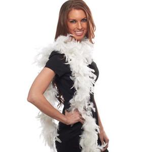 Boa di piuma Deluxe Flapper Boa di piume Chandelle Burlesque Costume 2M addensare marabù Boa di piume sciarpa febbre delle donne trasporto veloce