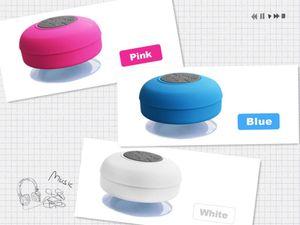Altavoz Bluetooth de la moda a prueba de agua de ducha sin manos sin hilos Mic succión Chuck Altavoz portátil de coches Mini MP3 Super Bass Recibir