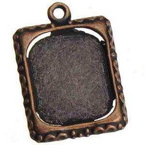 античная медь фоторамка подвески металл винтаж новый diy ювелирные изделия аксессуары и находки ожерелья браслеты 25 * 18 мм 100 шт.