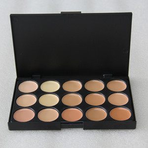 15 Colors Concealer Foundation Contour Face Cream Makeup Palette Pro Tool for Salon Party Wedding Daily 0061-10MU
