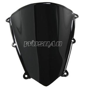 Мотоцикл двойной пузырь лобовое стекло ветровое стекло для Хонда CBR600RR 2007-2012 Ф5 2008 2009 2010 2011 07 08 09 10 11 12 Черный