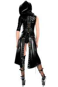 Wholesale-Sexy Faux Clubwear Teddies Clothing Female Latex Bodysuit Jumpsuit Stage Exotic Lingerie Leather Sex Rubber Women Costume Ksweg
