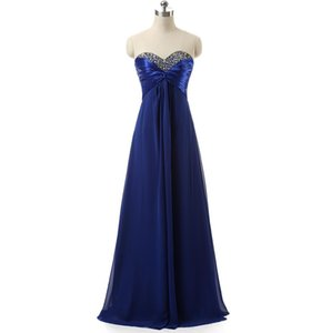 Top Rated Bridesmaid Dresses Long Floor Sequin Beaded Draped Chiffon Royal Blue   Purple In Stock Cheap Bridesmaids Dress For Women Wedding