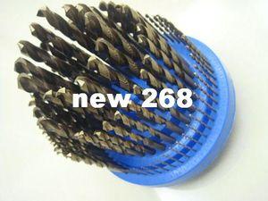 1-13MM Cobalt drill bit Straight Shank Twist Drill bit 25pcs=1lot M35 Material plus a drill box for free