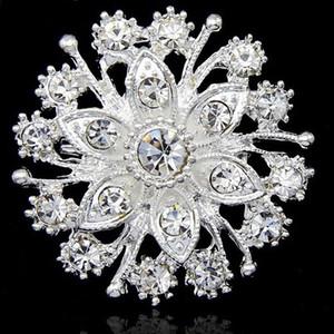 Vendita calda Piuttosto Fiore Diamante Argento Spilla Wedding Bouquet da sposa Accessori di gioielli di moda B909 Ragazze Dress Pins per la festa