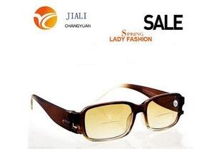 Al por mayor-R8806-1 Lentes retro lentes polarizadas gafas de sol bifocales 1.0 1.5 2.0 2.5 3.0 3.5 4.0 para hombres mujeres