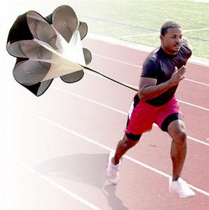 Parachute de resistencia de entrenamiento de velocidad ajustable 56 '' Paracaídas de paracaídas de paraguas de funcionamiento de velocidad para correr Entrenamiento de fútbol Envío gratuito